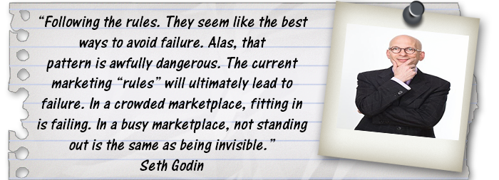 Seth godin quote on marketing and being invisible
