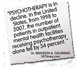 decline in psychotherapy