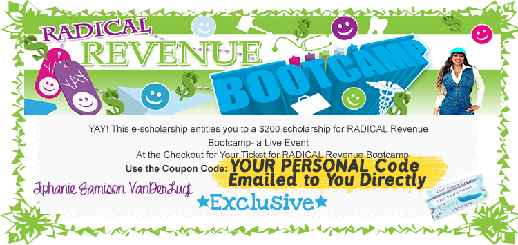 sample scholarship to radical revenue bootcamp